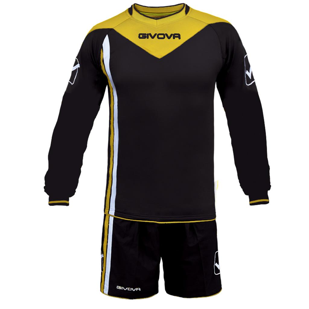Completo-Calcio-Portiere-KIT-SANTIAGO-GIVOVA-con-Imbottitura-Calcetto-Futsal miniatura 6