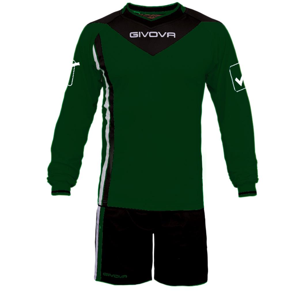 Completo-Calcio-Portiere-KIT-SANTIAGO-GIVOVA-con-Imbottitura-Calcetto-Futsal miniatura 13