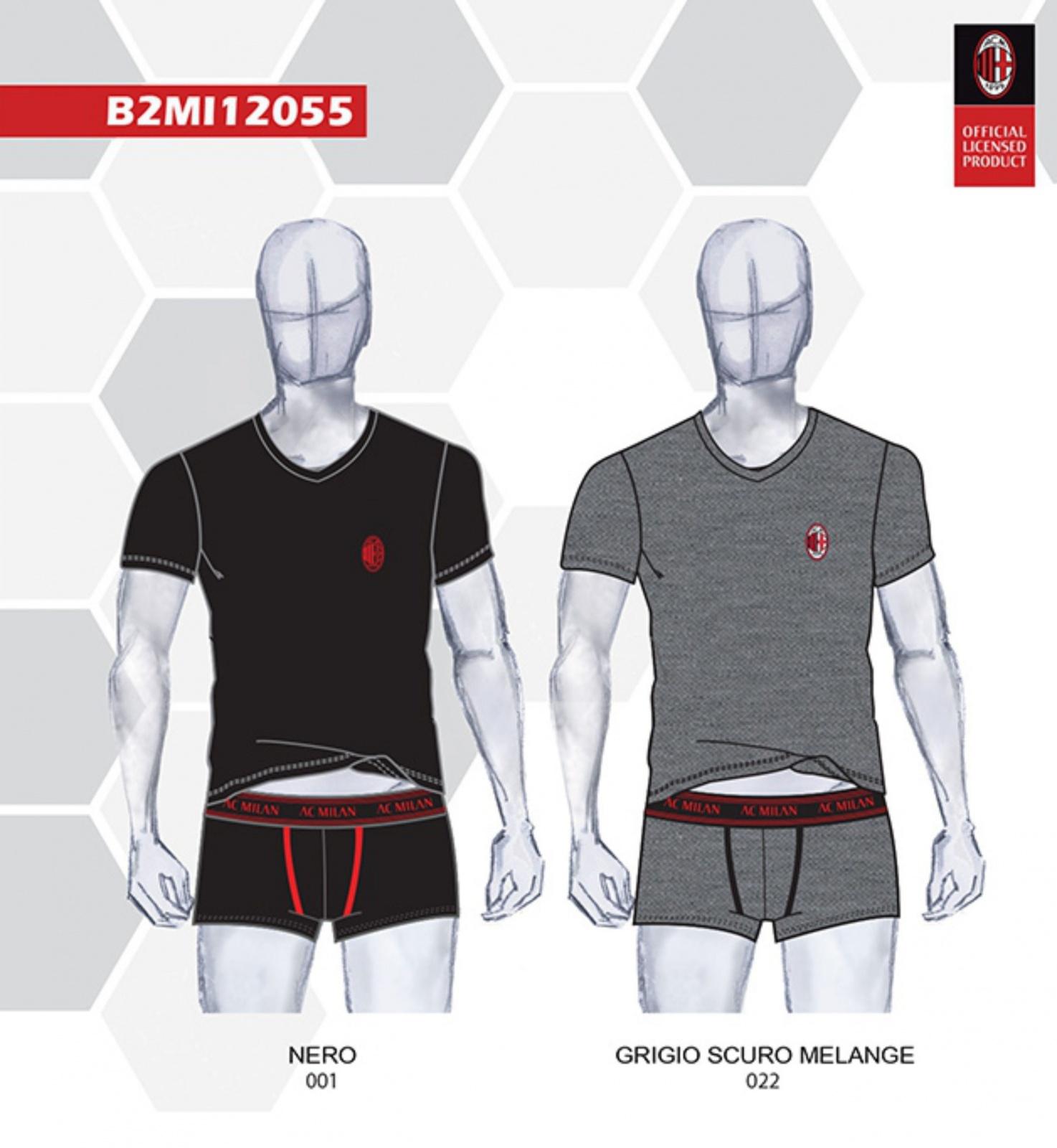 Complete UNDERWEAR Boy AC MILAN Official Product UNDERWEAR Boxer t-shirt Romagnoli Ibrahimovic Leao Rebic Donnarumma