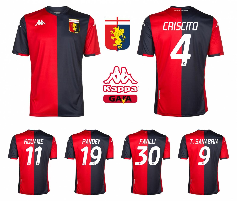 Kappa Genoa CFC Mens Third Soccer Jersey 2019-2020