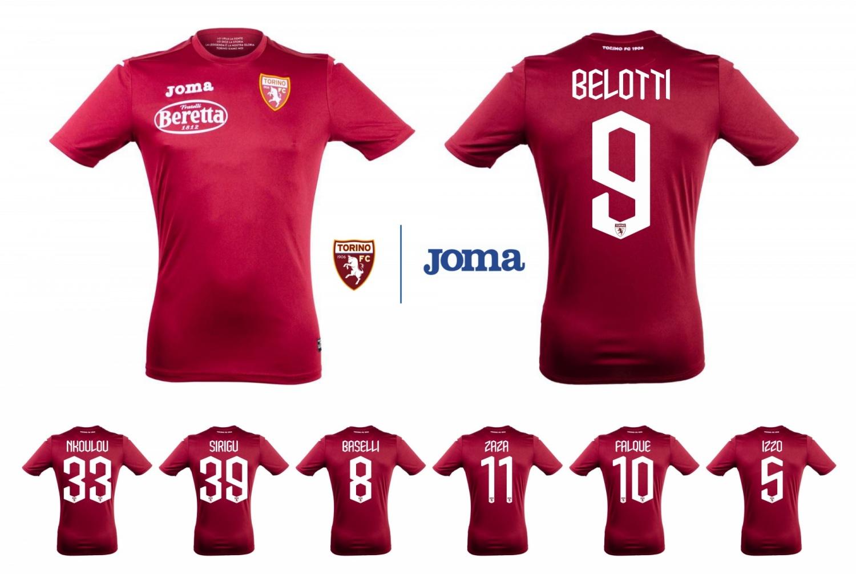 Nuova Maglia REPLICA ufficiale TORINO FC 2019/20 Originale JOMA ADULTO e BAMBINO Belotti Sirigu Falque Baselli Zaza